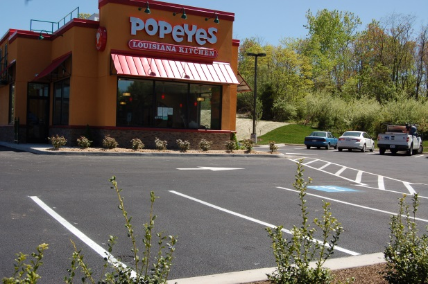 Popeyes Sunnyside, Route 522 – Paving